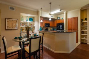 Three Bedroom Apartments for Rent in Katy, TX - Dining Room with View of Kitchen