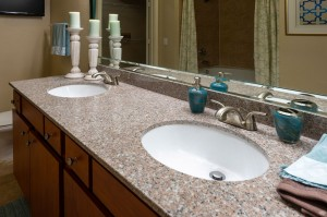 Two Bedroom Apartments for Rent in Katy, TX - Bathroom Counter with Double Sinks