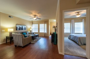 Two Bedroom Apartments for Rent in Katy, TX - Living Room with View of Bedroom
