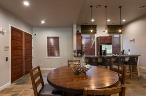 Apartments For Rent in Katy, TX - Clubhouse Kitchen  with Breakfast Bar and Dining Table