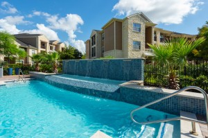 Apartments for Rent in Katy, TX - Pool with Waterfall